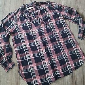 Loft flannel tunic